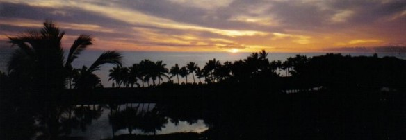 A beautiful Waikoloa sunset on the Big Island of Hawaii (copyright 2010 Joshua Weisel)