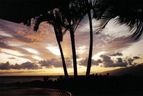 Lahaina Sunset - Maui, Hawaii (copyright 2010 JoshWillTravel)