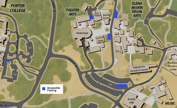 UCSC Performing Arts Map 2012