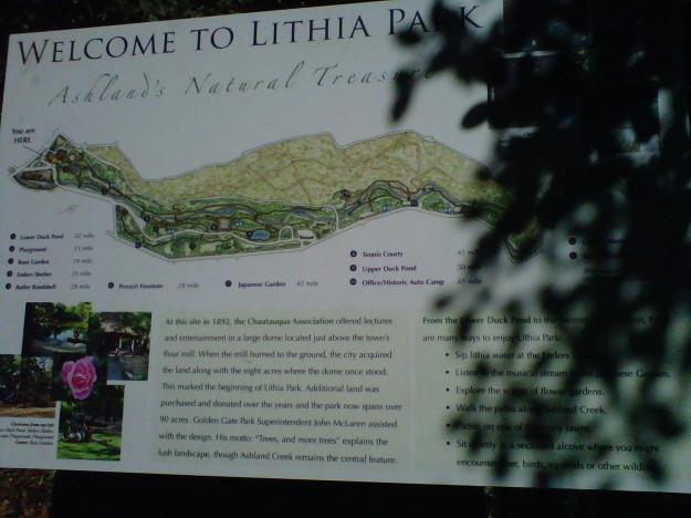 Lithia Park - Ashland, Oregon (copyright 2013 JoshWillTravel)