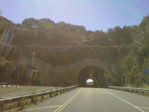 Kanan Road Tunnel through the Santa Monica Mountains to Malibu (copyright 2013 JoshWillTravel)