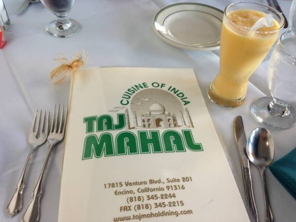 Dinner at Taj Mahal (copyright 2014 JoshWillTravel)