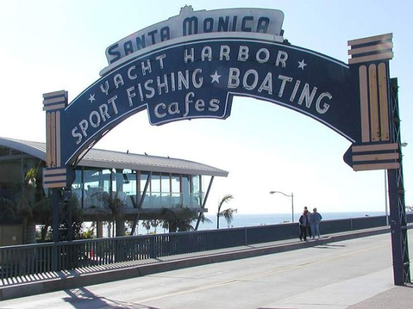 Santa Monica Pier Sign at Ocean Blvd
