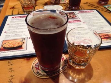Beer and Maker's Mark at Bubba Gump Shrimp Co. at Pier 39 (copyright 2014 JoshWillTravel)