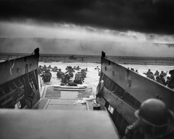 D-Day! View from inside a landing craft.