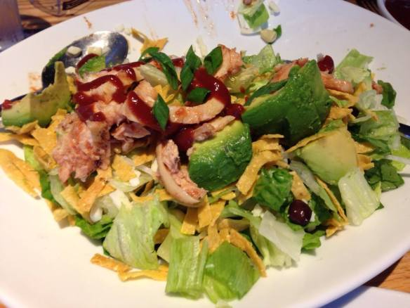 CPK - 1/2 BBQ chopped chicken salad w/avocado (copyright 2014 JoshWillTravel)