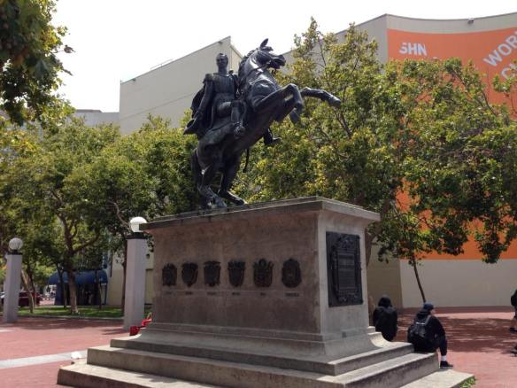 Simon Bolivar Statue in San Francisco (copyright 2014 JoshWillTravel)