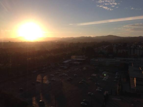 Sunset Over West LA (copyright 2014 JoshWillTravel)