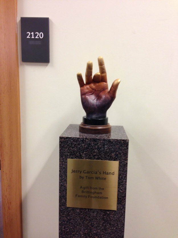UC Santa Cruz McHenry Library - Grateful Dead Special Collection - Jerry Garcia's Hand
