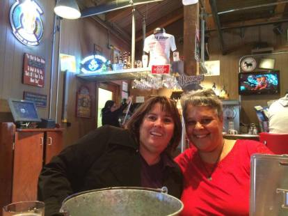 Meeting up with old friends after 20+ years at Bubba Gump's at Pier 39 in San Francisco