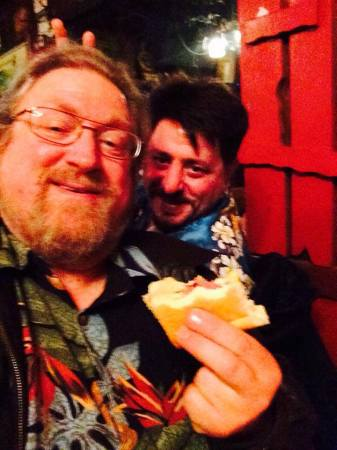 Selfie with Pastrami Sandwich at Tommy's Joynt