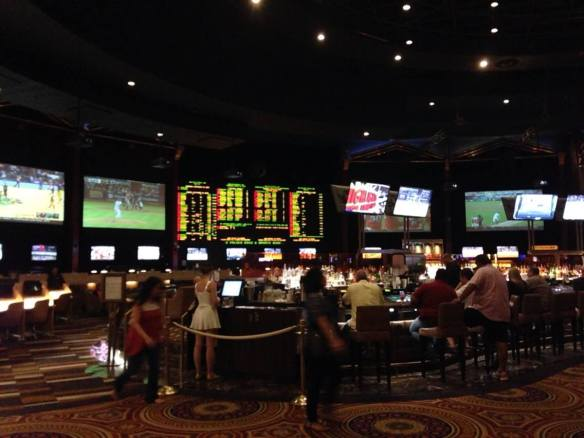 The Race & Sports Book at Caesars Palace in Las Vegas