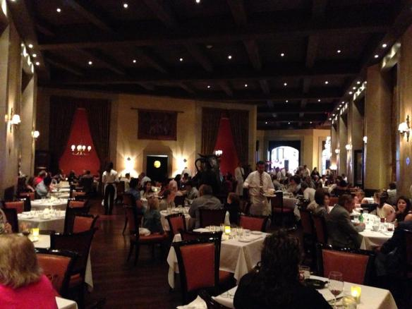 Dinner at Carnevino at the Palazzo Hotel on Friday night