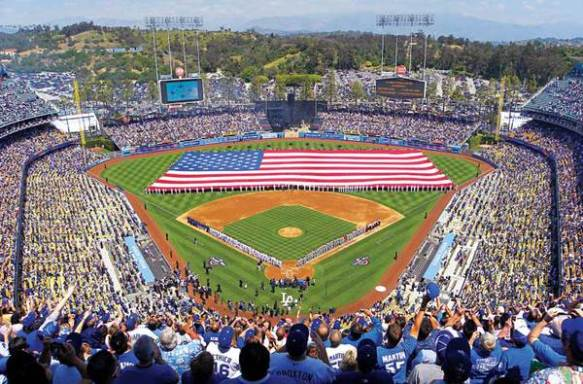 Dodgers Stadium in Chavez Ravine, Los Angeles, CA