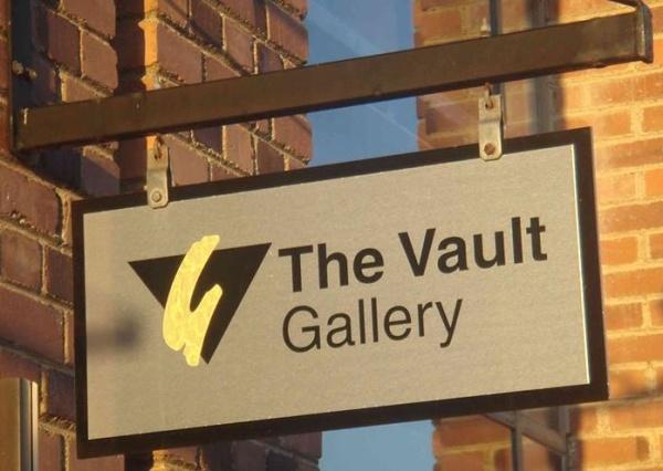 Vault Gallery sign