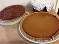 Pumpkin & Pecan Pie