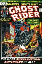 "COMIC BOOK / MARVEL COMICS: Ghost Rider was introduced in 1972's ""Marvel Spotlight"" No. 5"